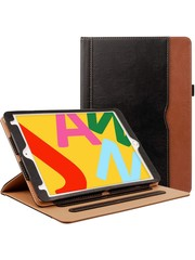 iPadspullekes.nl iPad Air 2020 10.9 Inch luxe hoes zwart bruin leer
