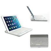 iPadspullekes.nl iPad Air toetsenbord bluetooth aluminium case wit