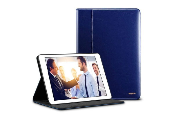 ESR iPad hoes 2017  Premium leer Blauw