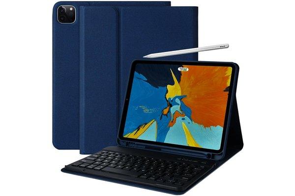 iPadspullekes.nl iPad Pro 2018 11-inch toetsenbord afneembaar blauw