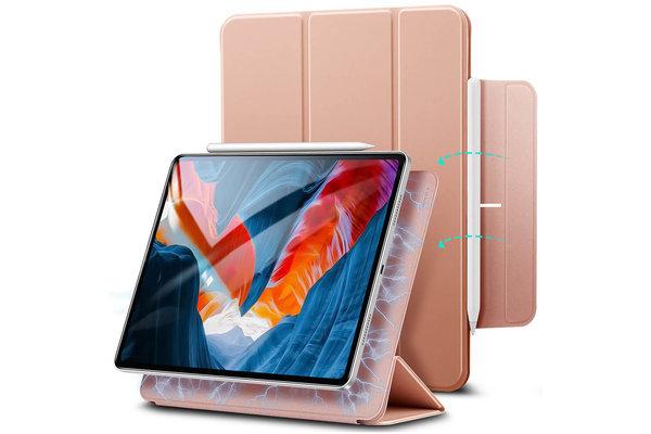 ESR ESR - Rebound Magnetic with Claps iPad Pro 2021 12.9-Inch Case roze