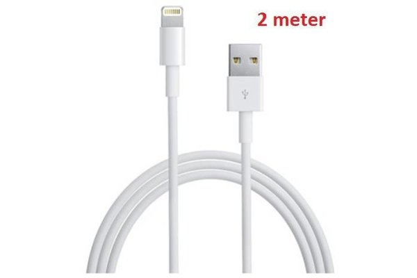iPadspullekes.nl iPad Air, Mini en iPhone 5/iPhone 6 oplaadkabel 2 meter