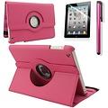 iPadspullekes.nl iPad Mini 4 hoes 360 graden leer roze