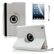 iPadspullekes.nl iPad Mini 4 hoes 360 graden leer wit
