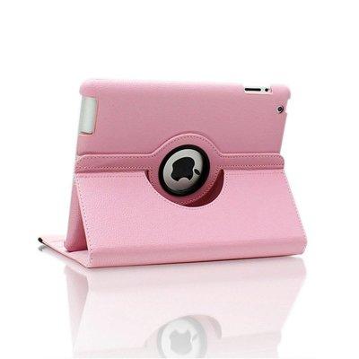 iPadspullekes.nl iPad Pro 9,7 hoes 360 graden licht roze leer