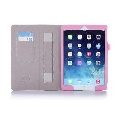 i-Blason iPad Air 2 Leather Slim Book Case roze met witte stippen
