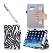 i-Blason iPad Air 2 Leather Slim Book Case zebra print
