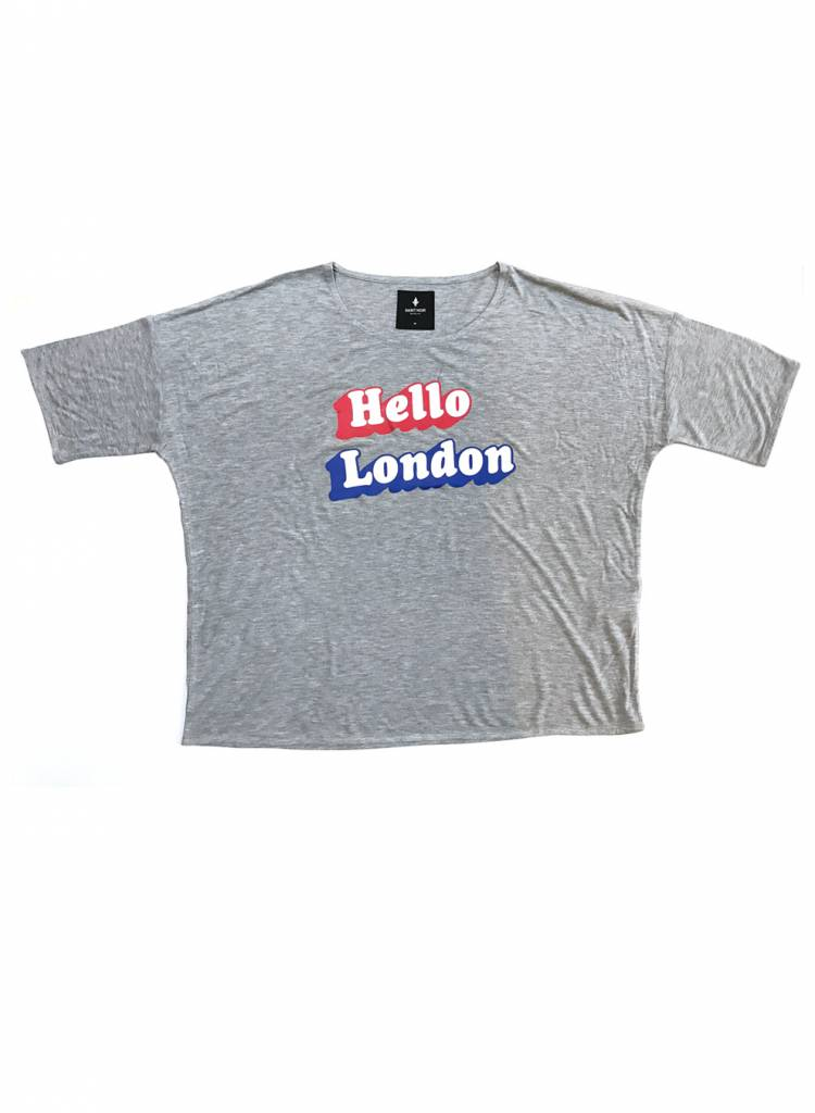 T-Shirt Loose Fit Damen - Hello London
