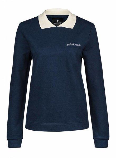 Sweatshirt Straight Collar Women - New Noir