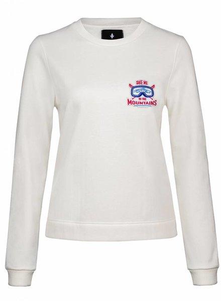 Sweatshirt Straight Fit Damen - Mountains