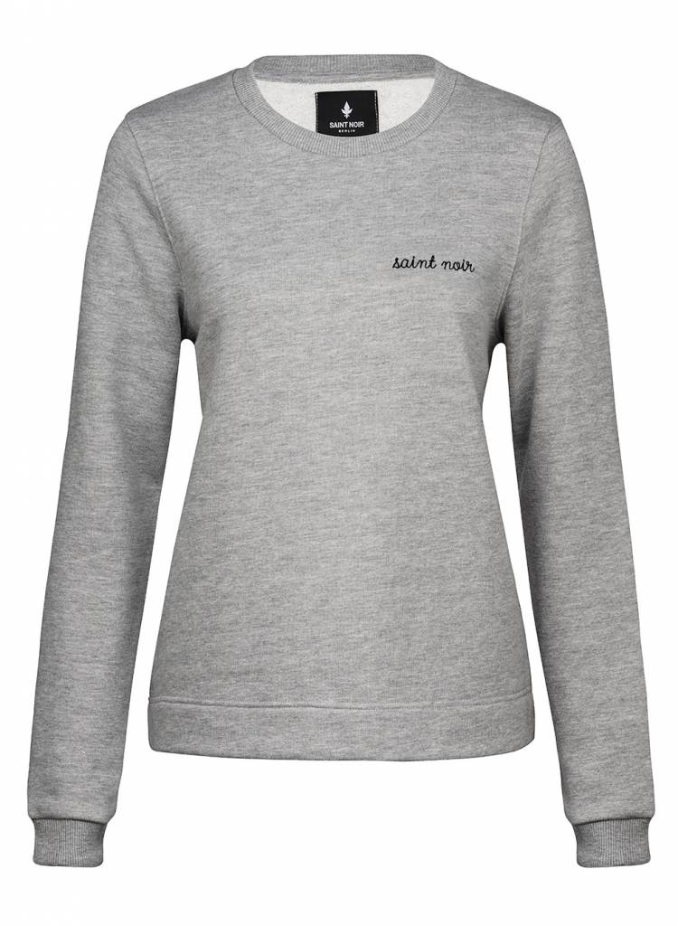 Sweatshirt Straight Fit Women - New Noir