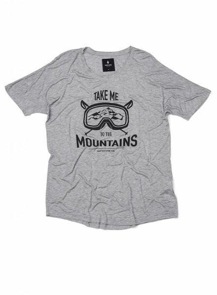 T-Shirt Loose Fit Herren - Mountains