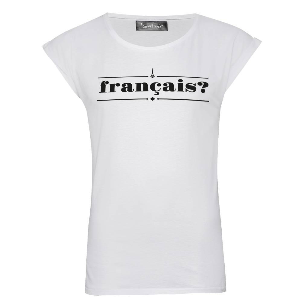T-Shirt Rolled Sleeve Ladies - Francais?