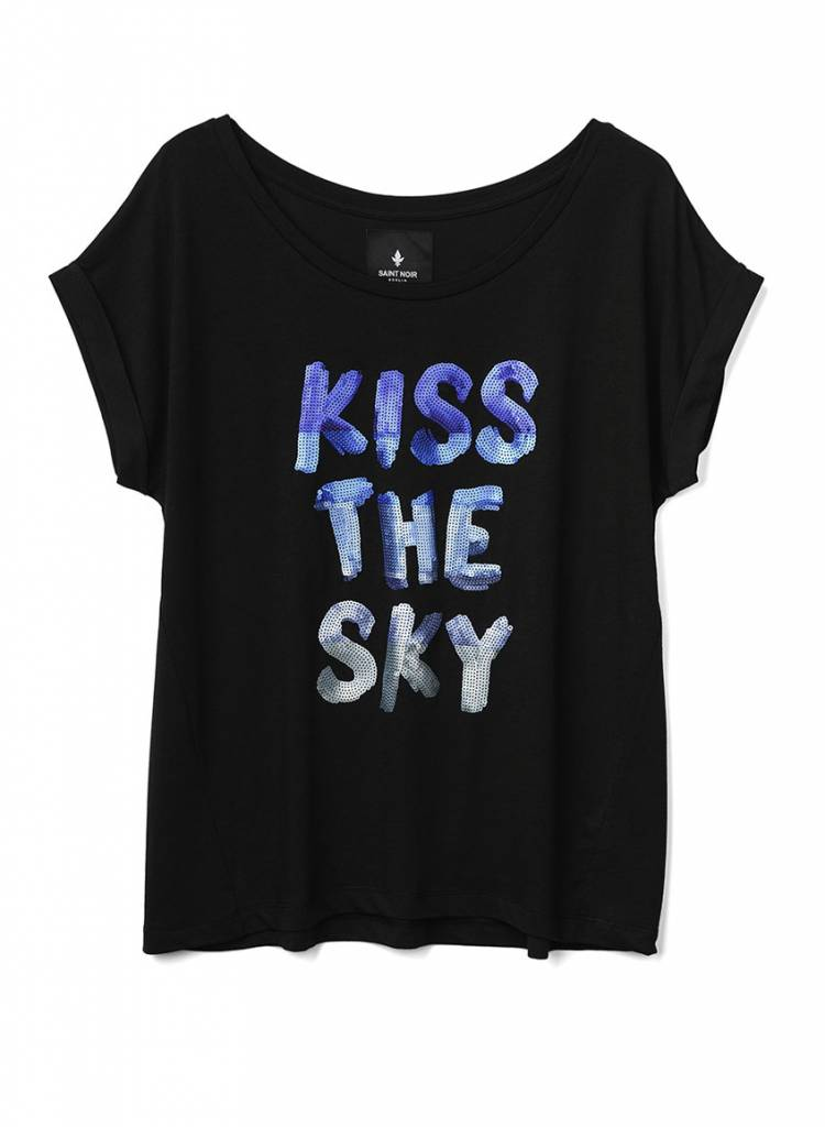 T-Shirt Round Neck Damen - Kiss The Sky