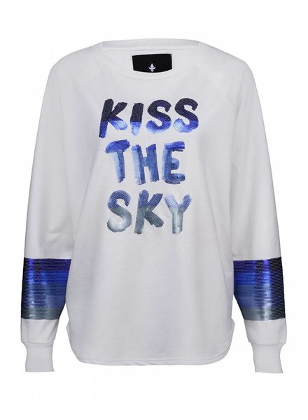Sweatshirt Long Back Ladies - Kiss The Sky