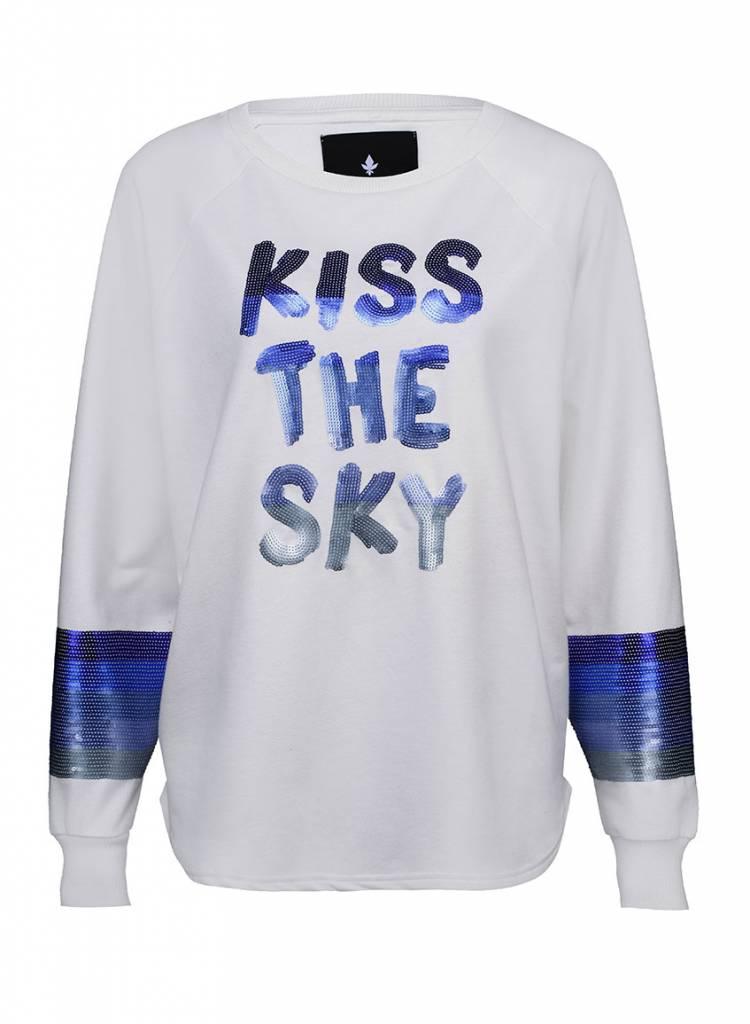 Sweatshirt Longback Damen - Kiss The Sky