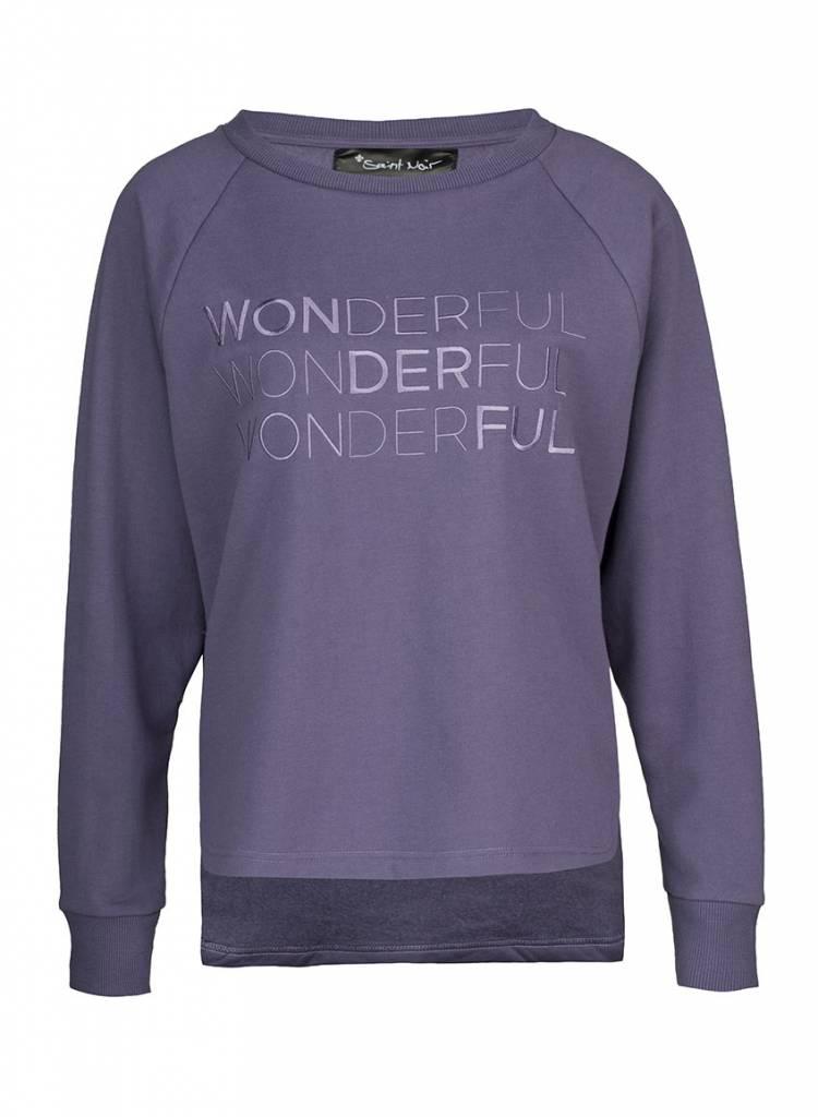 Sweatshirt Longback Damen - Wonderful