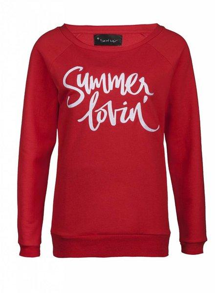 Sweatshirt Scoop Neck Damen - Summer Lovin'
