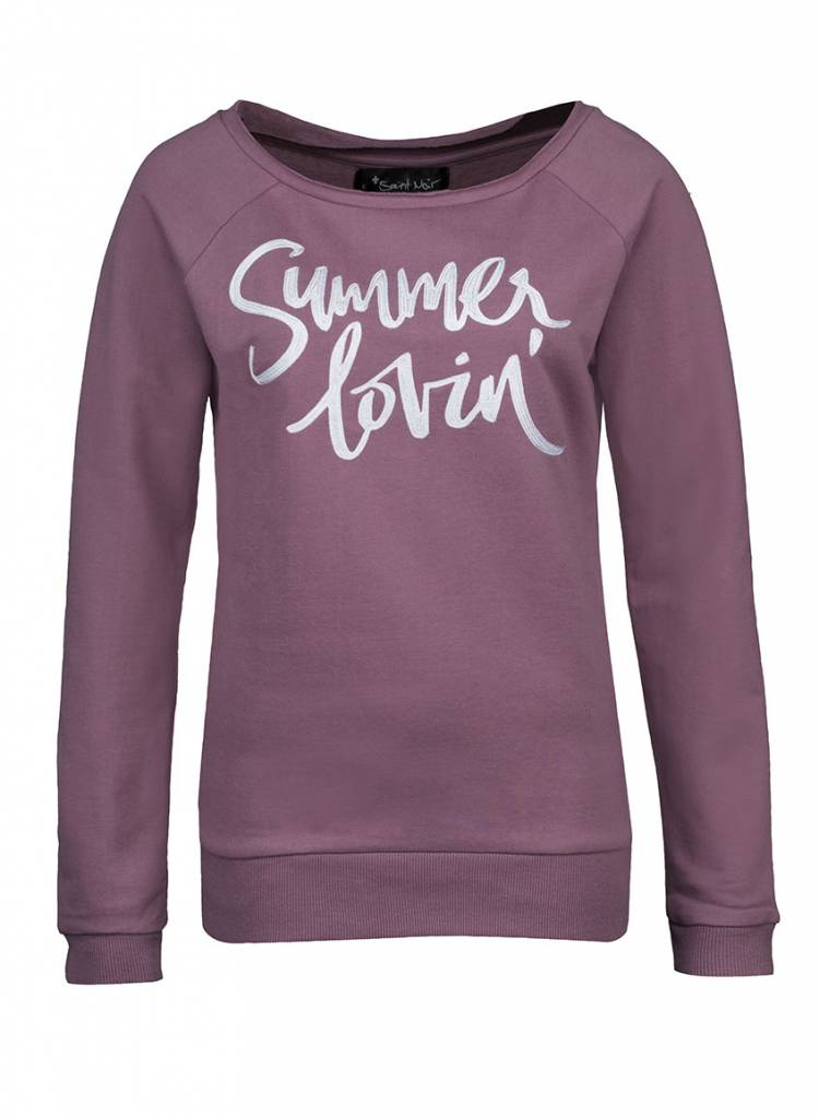 Sweatshirt Scoop Neck Damen - Summer Lovin'