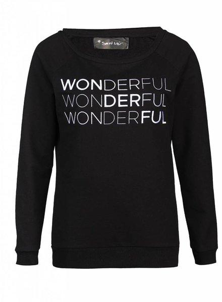 Sweatshirt Scoop Neck Damen - Wonderful