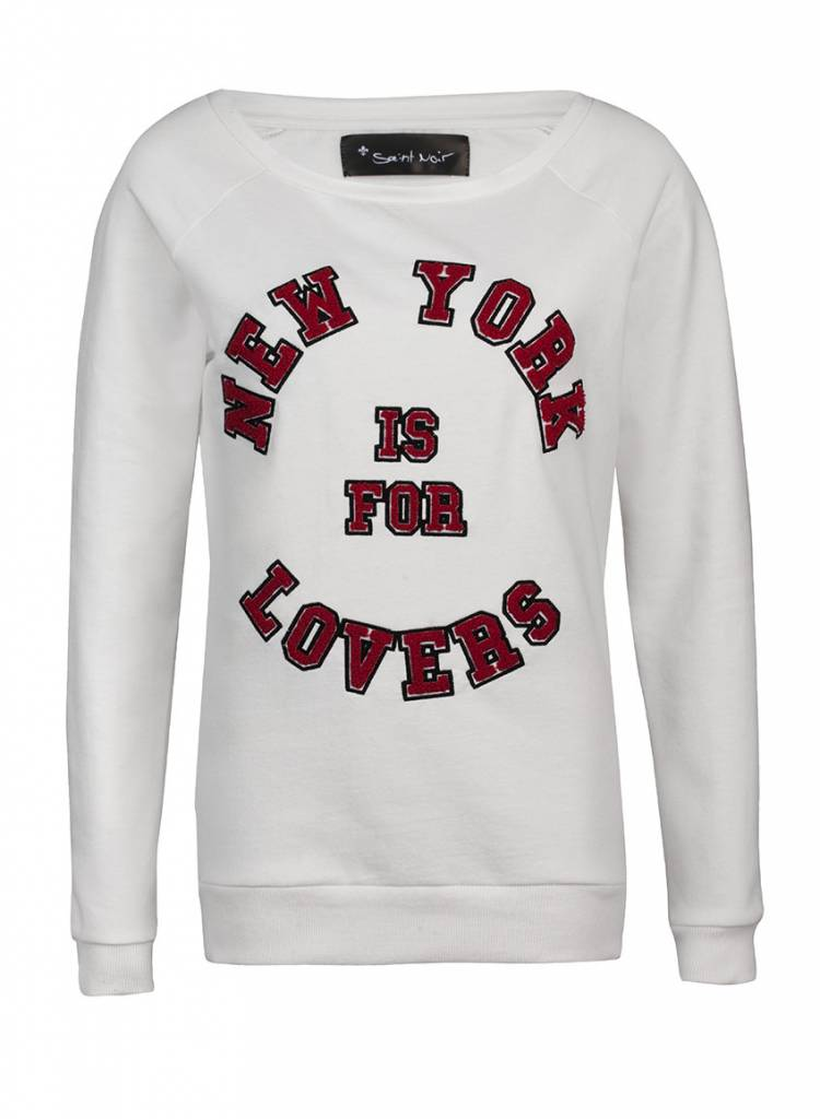 Sweatshirt Scoop Neck Damen - NY Lovers