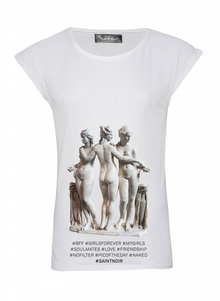 T-Shirt Rolled Sleeve Damen - BFF - Statue Collection