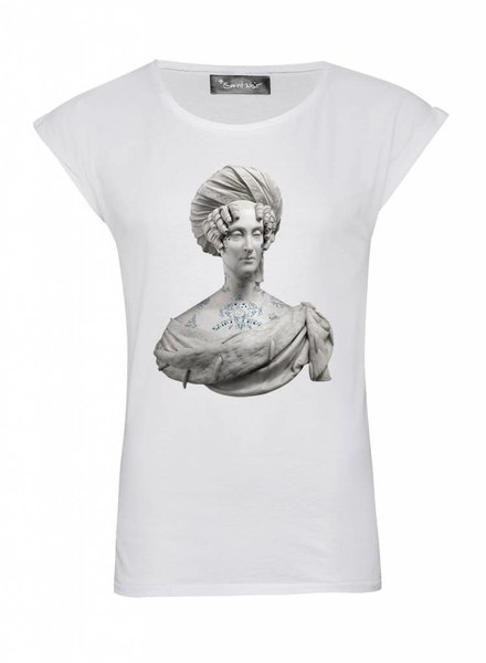 T-Shirt Rolled Sleeve Ladies - Mme Tattoo - Statue Collection
