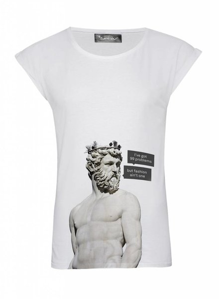 T-Shirt Rolled Sleeve Damen - 99 Problems - Statue Collection