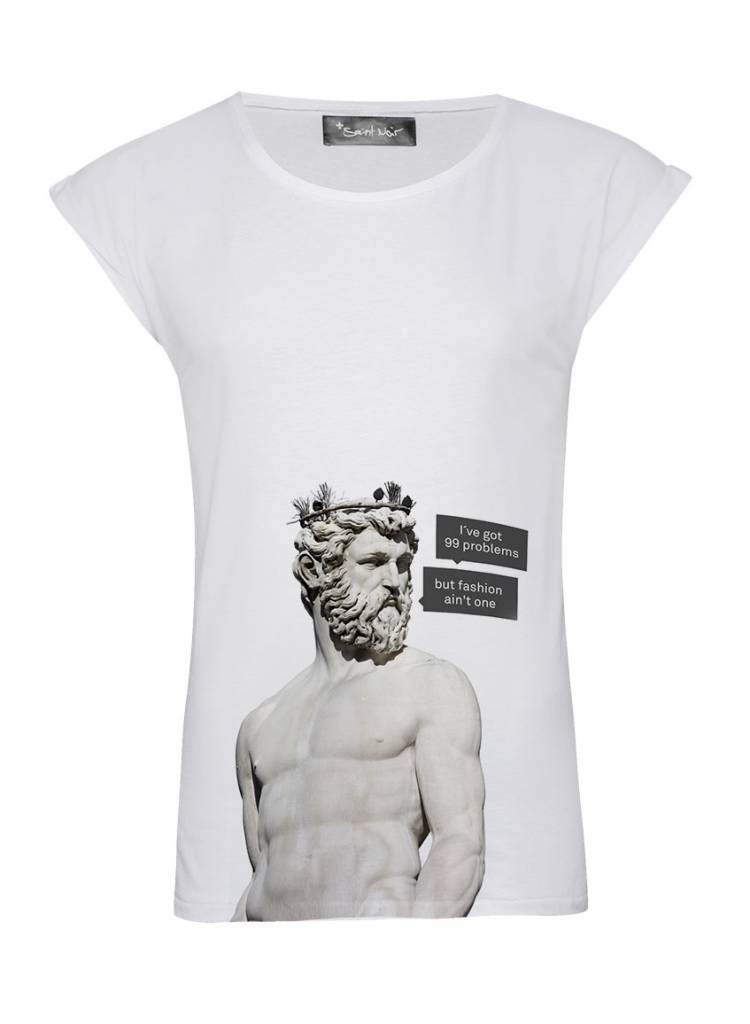 T-Shirt Rolled Sleeve Women - 99 Problems - Statue Collection