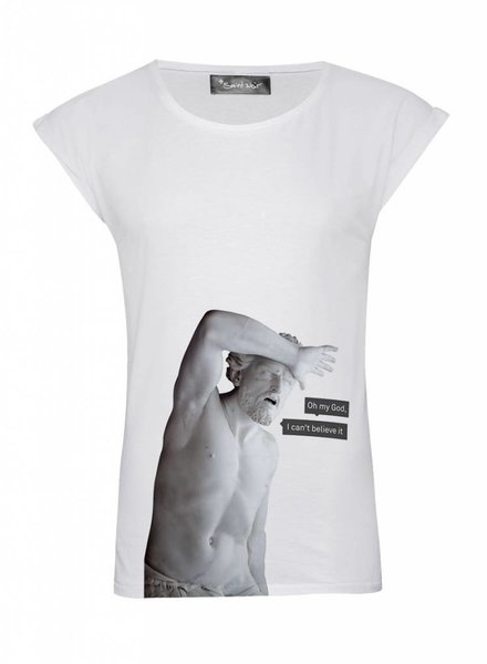 T-Shirt Rolled Sleeve Women - My God - Statue Collection