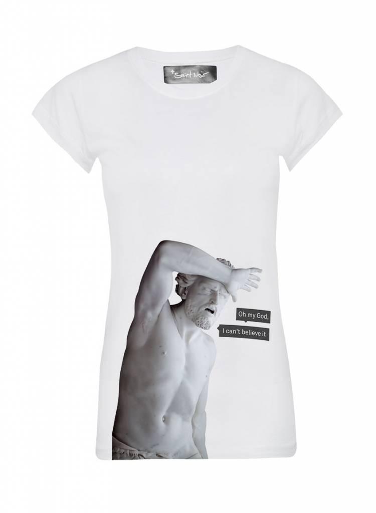 T-Shirt Skinny Cut Damen - My God - Statue Collection