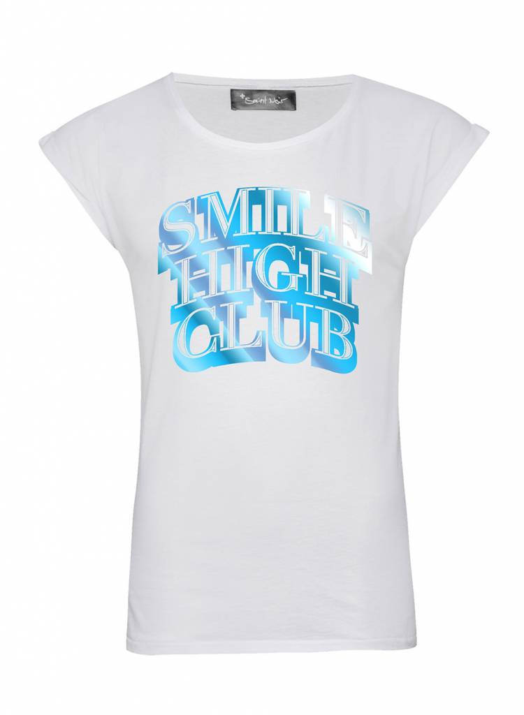 T-Shirt Rolled Sleeve Ladies - Smile High