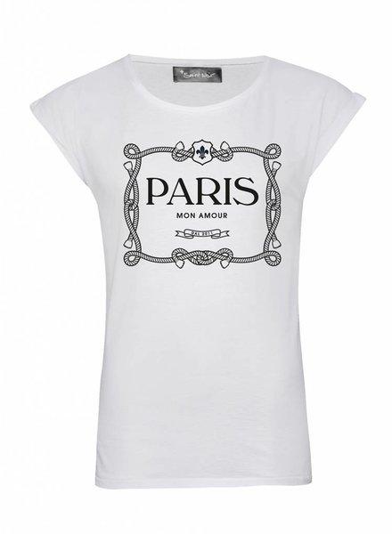 T-Shirt Rolled Sleeve Damen - Paris Mon Amour