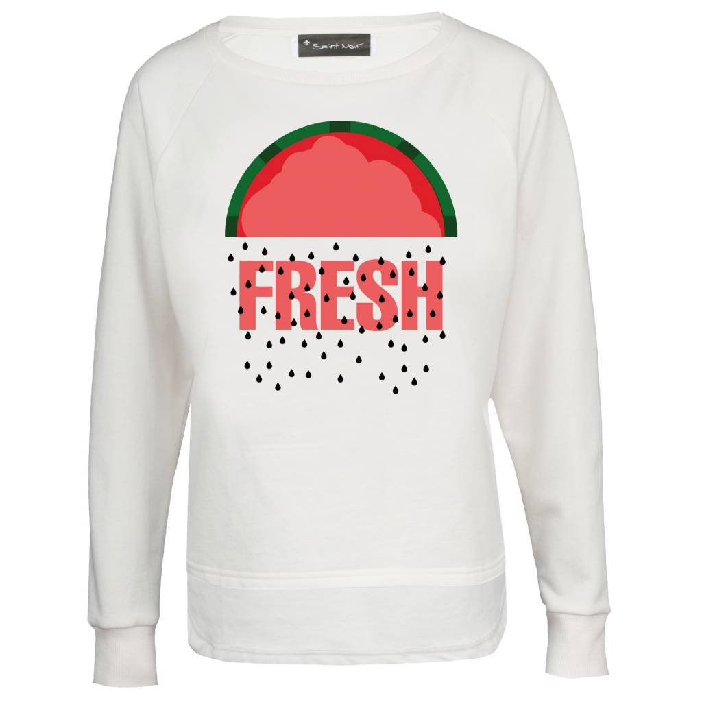 Sweatshirt Longback Damen - Fresh