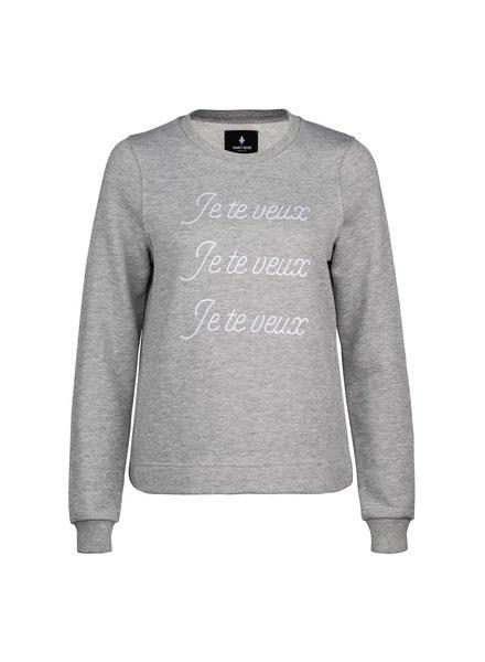 Sweatshirt Straight Fit Damen - Je Te Veux