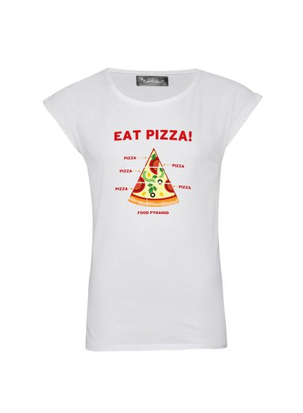 T-shirt Rolled Sleeve Women - Pizza