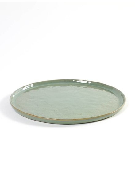 Pascale Naessens - Aqua Green / Zwart Bord Rond groot - turqoize (per 2)