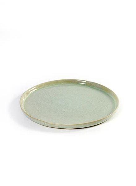 Pascale Naessens - Aqua Green / Zwart Rond bordje S - zeegroen (per 2)