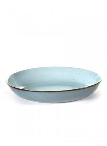 Anita Le Grelle  PASTA PLATE D23,5 H4,5 CM LIGHT BLUE/SMOKEY BLUE