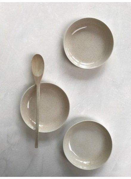 Kirstie Van Noort (Porselein) Hoog Bord Mat Cream - Small
