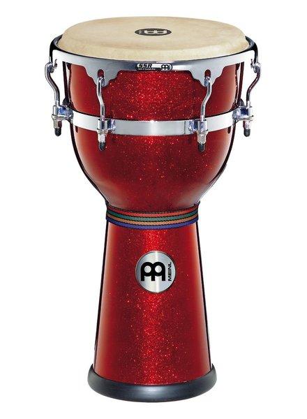 Meinl DJF3RSP Fiberglas djembe, 12-Zoll-Modell verwendet roten Clearance Glitzern