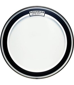 "Aquarian SKII-22 Super Kick II clear 22"" Bass Drum"