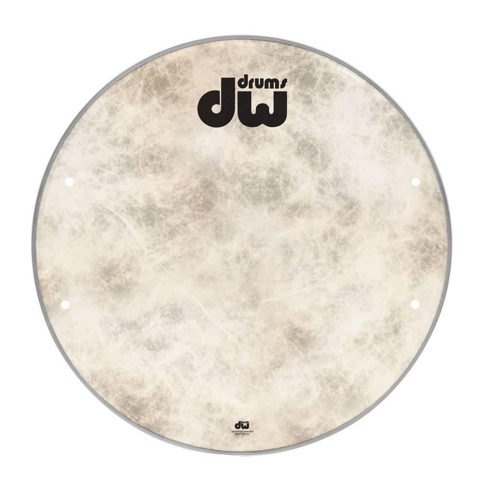 "DW drumworkshop DW bass drum front head Fiber Skin 23 ""DRDHFS23K"