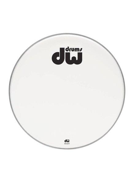 "DW drumworkshop DW bass drum front head bilayer coated white 23 ""DRDHACW23K"