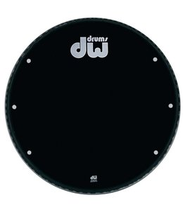 "DW drumworkshop DW Bass Drum Front Kopf Ebony Black 23 ""GB 23K mit Löchern"