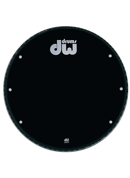 "DW drumworkshop DW Bass Drum Front Kopf Ebony Black 23 ""GB 23K mit Löchern"