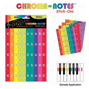 Boomwhackers Chroma-Notes Stick-Ons BW CNS1 Color Coordination Stickers