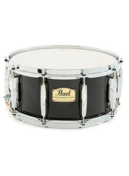 "Pearl SSC-1455S / C103 14x5.5 ""Session Studio Classic Snare Drum, Black"