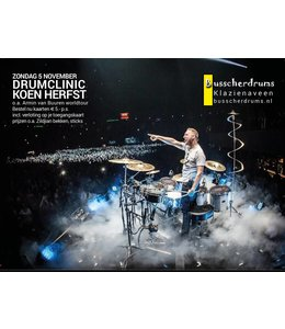 Busscherdrums Drumclinic Koen Fall Sunday, November 5, 2017