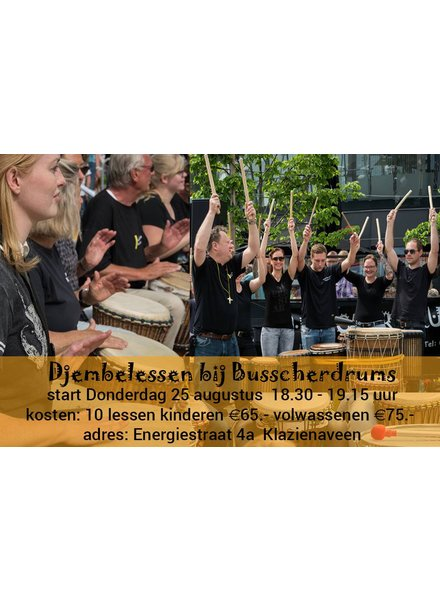 Busscherdrums djembe916 Djembe les Anfänger 10 Lektionen Kurs - Kinder
